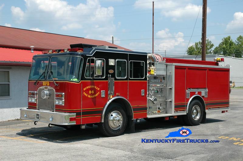 <center> Burkesville  Engine 5 <br> x-Dearborn, MI  <br> 1998 KME Excel 1500/500/40 <br> Greg Stapleton photo </center>