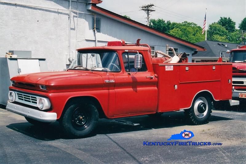 RETIRED<br /> Burkesville  Truck 1<br /> 1962 Chevy C30 150/100<br /> Greg Stapleton photo