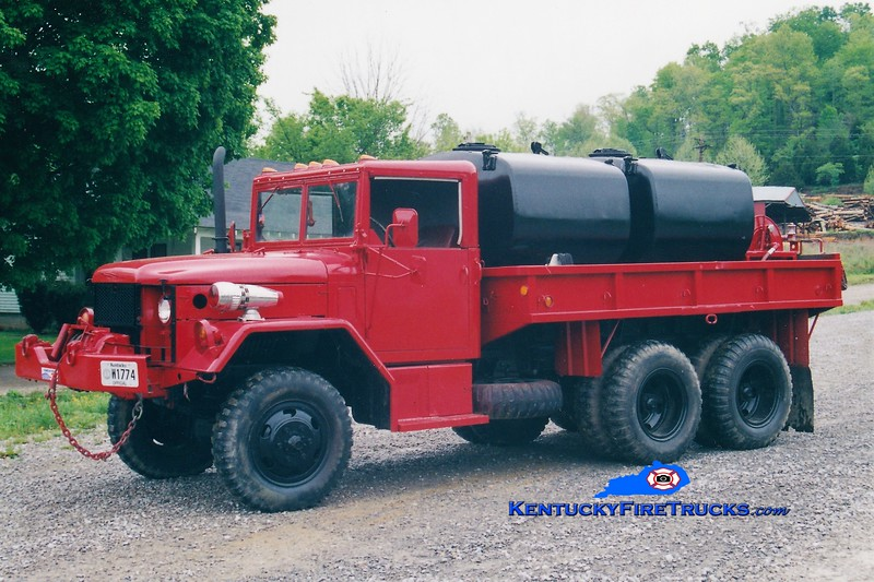 RETIRED<br /> Marrowbone  Tanker 1<br /> 1970 AM General 6x6/Local 250/1200<br /> Greg Stapleton photo
