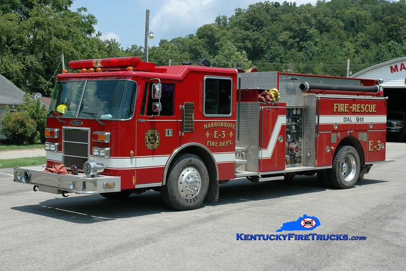 <center> Marrowbone  Engine 3 <br> x-Brevard County, FL <br> 1993 Pierce Dash 1250/1000 <br> Greg Stapleton photo </center>