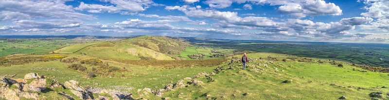 Panorama looking eastwards from Crook Peak