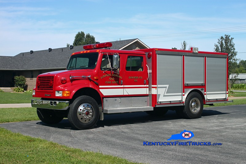 <center> Airport-Sorgho  Rescue 602 <br> 1993 International 4700/Pierce E-One  <br> Kent Parrish photo <br> </center>