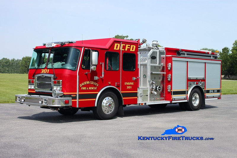 <center> Daviess County  Engine 301  <br> 2013 E-One Typhoon 1250/1030 <br> Kent Parrish photo </center>