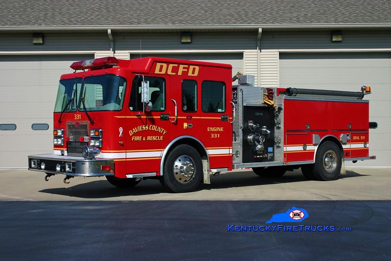 <center> Daviess County  Reserve Engine  <br> x-Engine 331 <br> 2004 Spartan Advantage/Rosenbauer-Central 1250/750 <br> Kent Parrish photo </center>