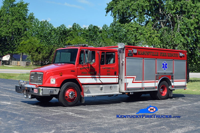 Masonville Rescue 503<br /> 2001 Freightliner FL80/KME 500/500/30<br /> Kent Parrish photo