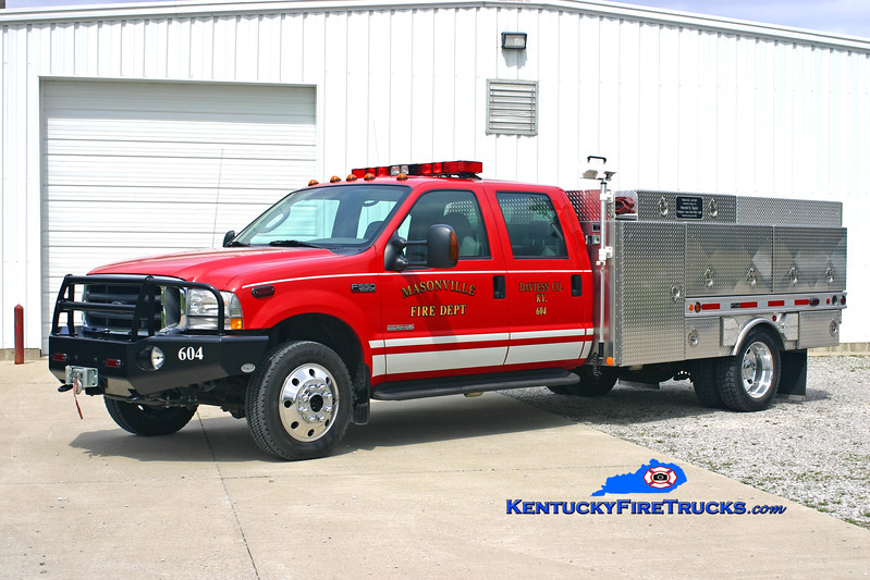 <center> Masonville  Brush 604  <br> 2005 Ford F-550 4x4/Pro-Tech/RKO 250/250<br> Kent Parrish photo </center>