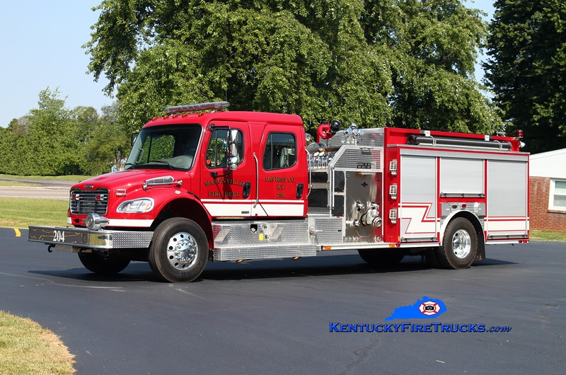 <center> Masonville  Engine 204  <br> 2008 Freightliner M2-106/E-One 1250/1000/30<br> Kent Parrish photo </center>