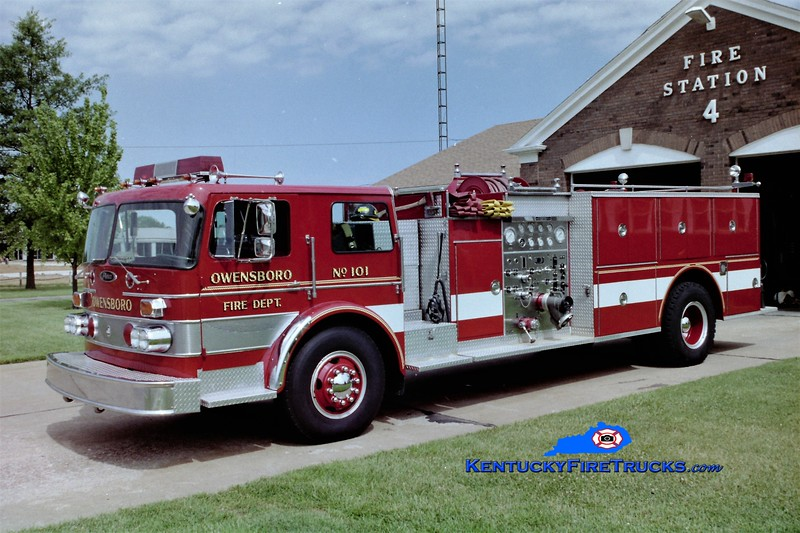 RETIRED<br /> Owensboro Engine 101<br /> 1976 Duplex/Pierce 1250/500<br /> Greg Stapleton photo