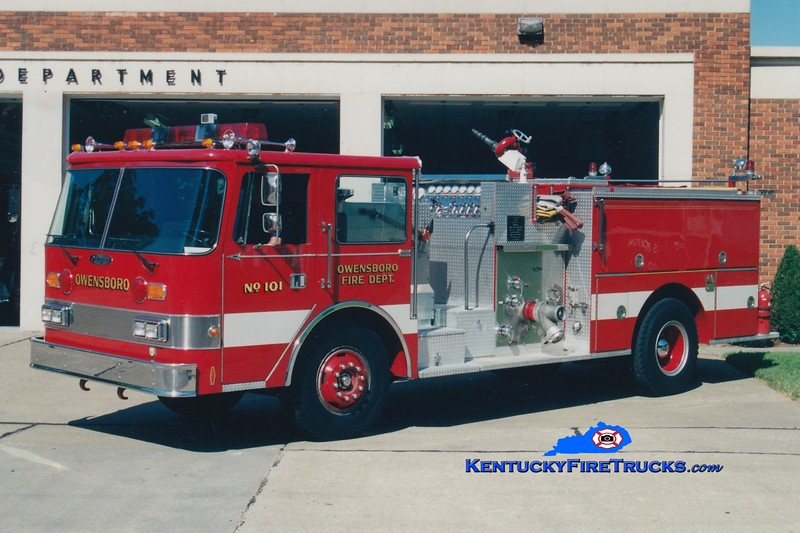 RETIRED<br /> Owensboro Engine 101<br /> 1987 Pierce Arrow 1250/500<br /> Greg Stapleton photo