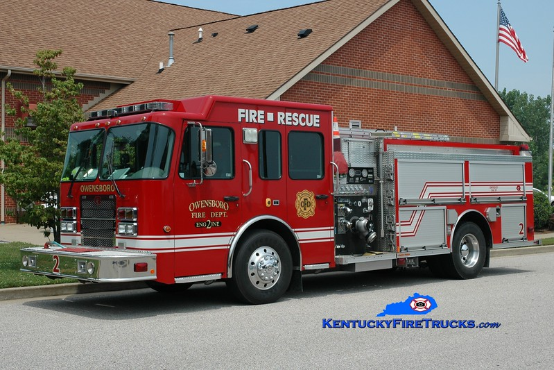 <center> RESERVE ENGINE <br> Owensboro  Engine 2 <br> 2006 Spartan Advantage/Rosenbauer-Central 1500/750 <br> Greg Stapleton photo <br> </center>