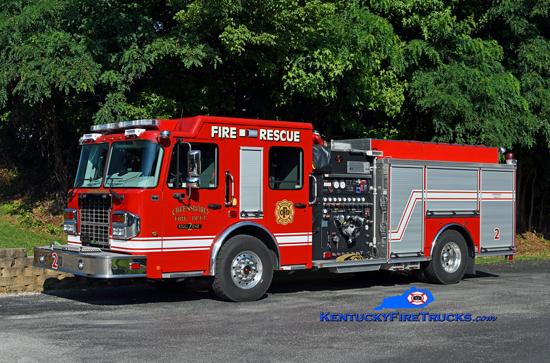 Owensboro Engine 2<br /> 2019 Spartan Metro Star ER 1500/750/20<br /> Kent Parrish photo