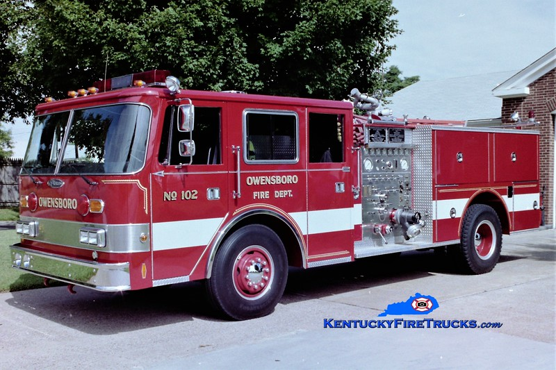 RETIRED <br /> Owensboro Engine 102<br /> 1982/1991 Pierce Arrow 1250/500<br /> Greg Stapleton photo