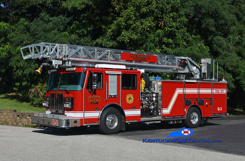 Owensboro  Quint 2<br /> 2018 Sutphen SLR75 2000/480/20/75'<br /> Kent Parrish photo