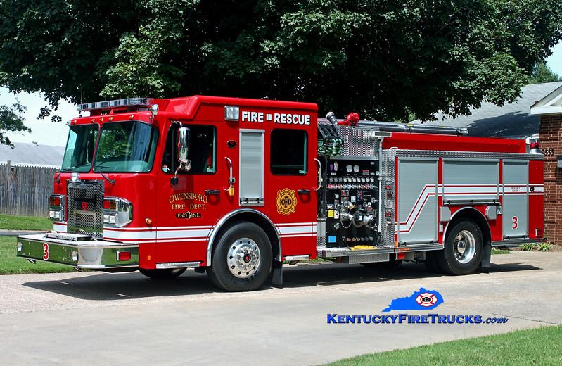 <center> Owensboro  Engine 3 <br> 2013 Spartan Metro Star/Rosenbauer 1500/750/30 <br> Kent Parrish photo <br> </center>