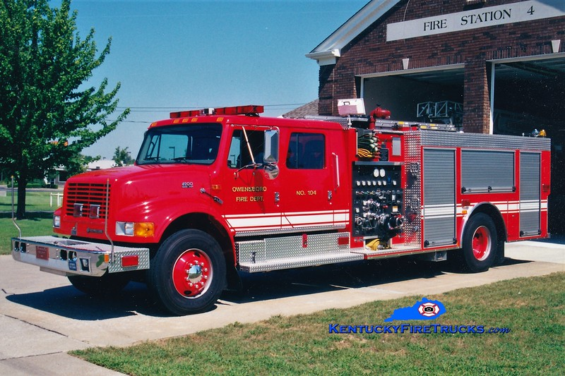 RETIRED <br /> Owensboro Engine 104<br /> 1998 International 4900/Smeal 1250/500 <br /> Greg Stapleton photo