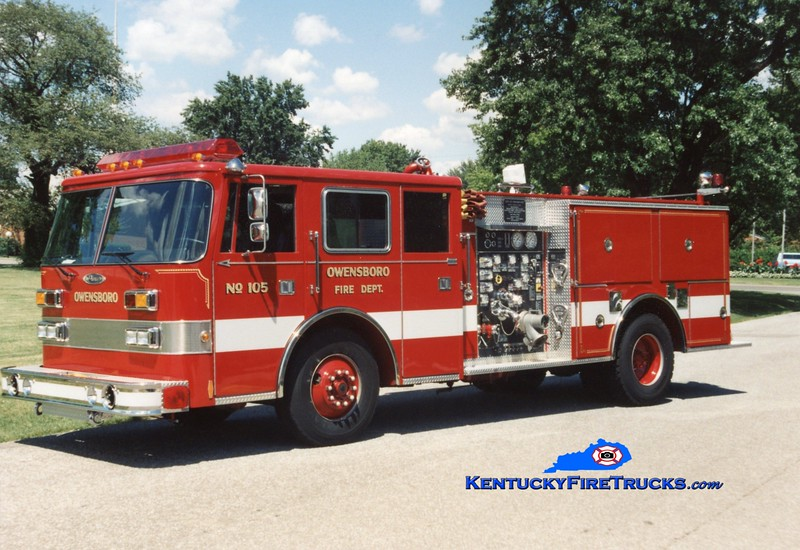 <center> RETIRED <br> Owensboro  Engine 105 <br> 1994 Pierce Arrow 1250/500 <br> Greg Stapleton photo <br> </center>