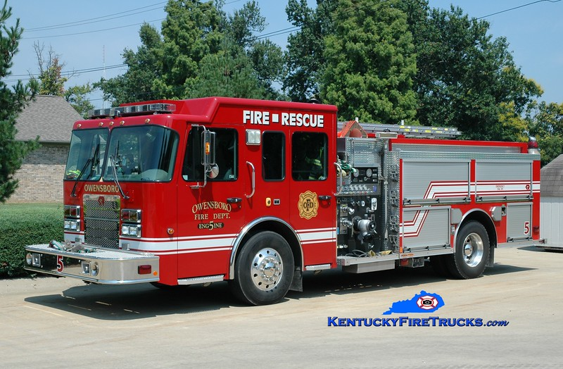 <center> RESERVE ENGINE <br> Owensboro  Engine 5 <br> 2006 Spartan Advantage/Rosenbauer-Central 1500/750 <br> Greg Stapleton photo <br> </center>