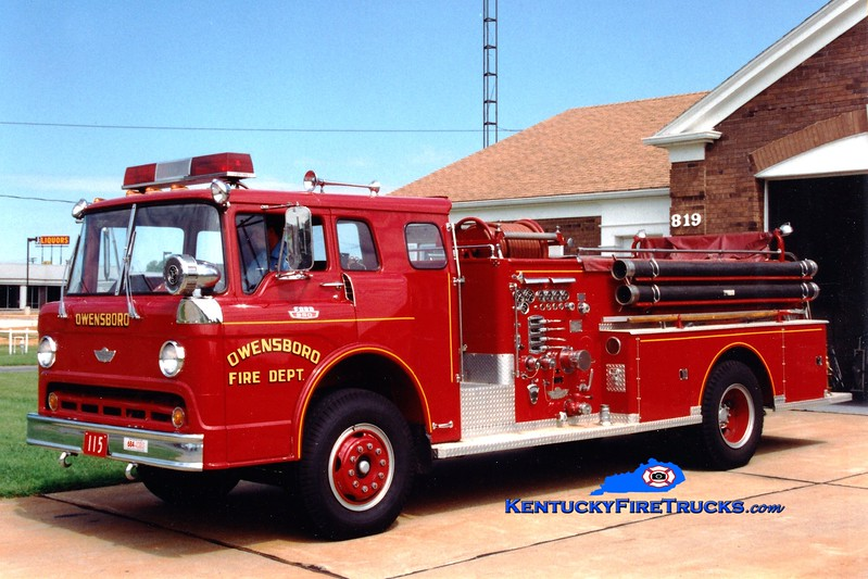 <center> RETIRED <br> Owensboro  Engine 105 <br> 1968 Ford C-850/American 1000/300 <br> Greg Stapleton photo <br> </center>