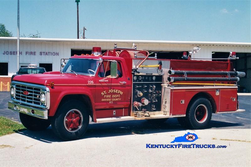 RETIRED<br /> St. Joseph  Engine 226<br /> 1974 Ford F-800/Pierce 750/750<br /> Greg Stapleton photo