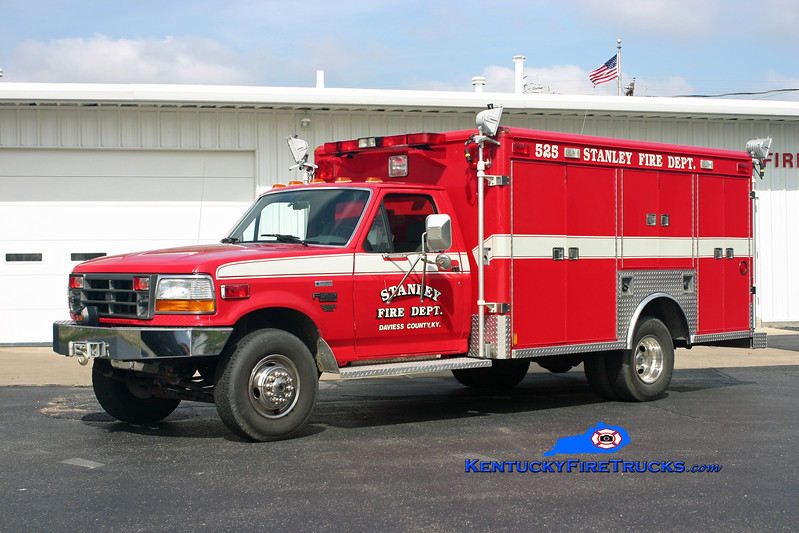 <center> Stanley  Rescue 525 <br> 1993 Ford F-350 4x4/Wheeled Coach <br> Kent Parrish photo <br> </center>