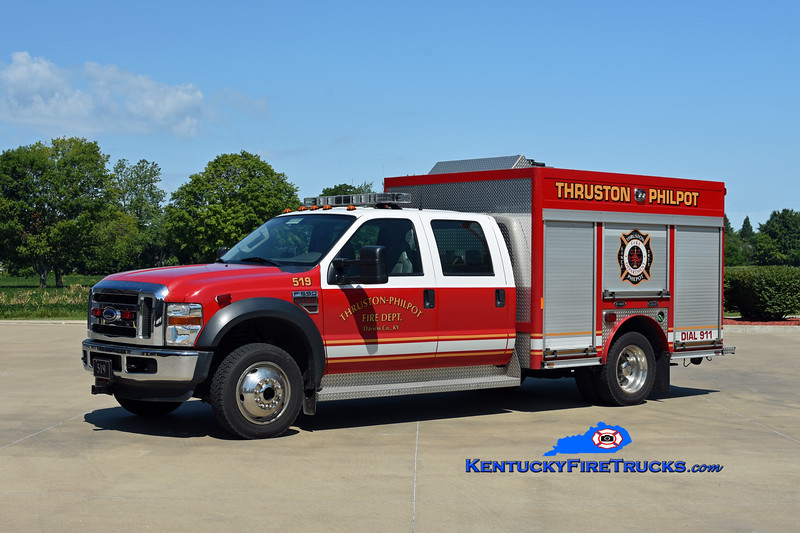 Thruston-Philpot Rescue 519<br /> 2007 Ford F-550 4x4/E-One/Classic Fire<br /> Kent Parrish photo