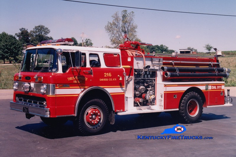 <center> RETIRED <br> Thruston-Philpot  Engine 216 <br> 1974 Ford C/Pierce 1000/750 <br> Greg Stapleton photo <br> </center>