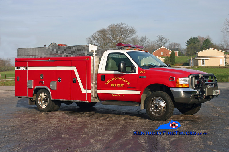 <center> Thruston-Philpot  Brush 219 <br> 1999 Ford F-550 4x4/Mertz 250/250 <br> Kent Parrish photo <br> </center>