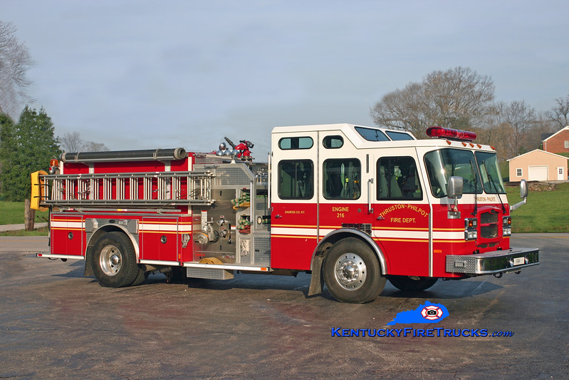 <center> Thruston-Philpot  Engine 216 <br> 2003 E-One Typhoon  1250/1000/30 <br> Kent Parrish photo <br> </center>