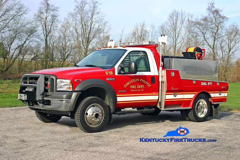 <center> Thruston-Philpot  Brush 618 <br> 2005 Ford F-550 4x4/B&W/Mertz 250/250 <br> Kent Parrish photo <br> </center>