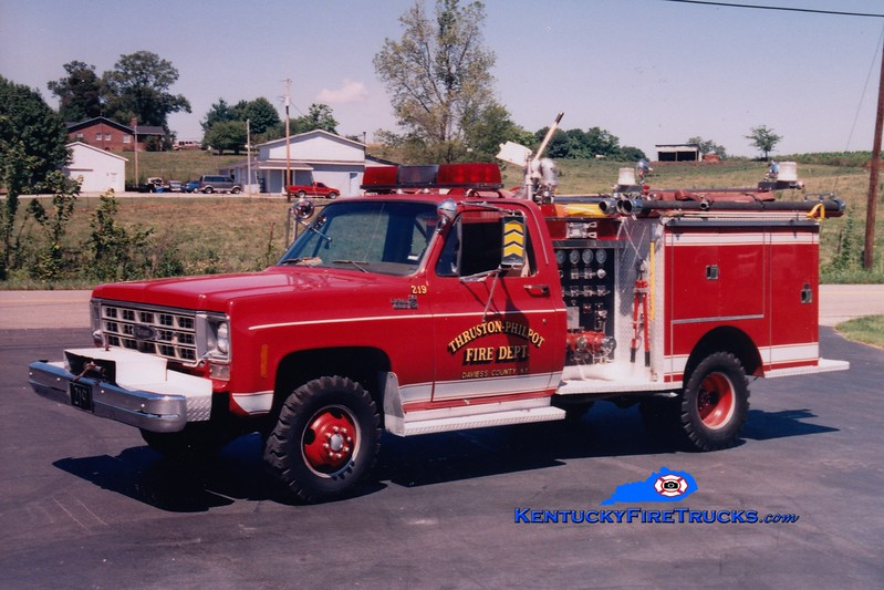 <center> RETIRED <br> Thruston-Philpot  Attack 219 <br> 1977 Chevy 4x4/Pierce 250/250 <br> Greg Stapleton photo <br> </center>