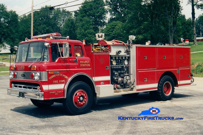 <center> RETIRED <br> Thruston-Philpot  Engine 218 <br> 1979 Ford C/Pierce 1000/1000 <br> Greg Stapleton photo <br> </center>