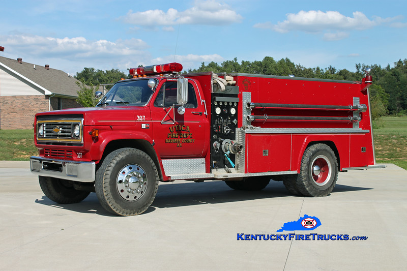 <center> Utica  Tanker 307 <br> 1982 Chevy C70/American 500/1500 <br> Kent Parrish photo <br> </center>