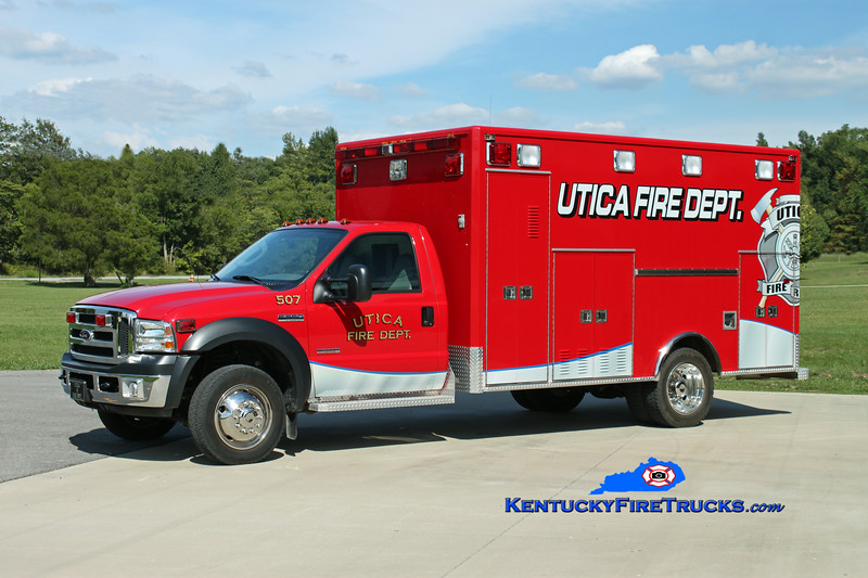 <center> Utica  Rescue 507 <br> 2006 Ford F-550/Horton  <br> Kent Parrish photo <br> </center>