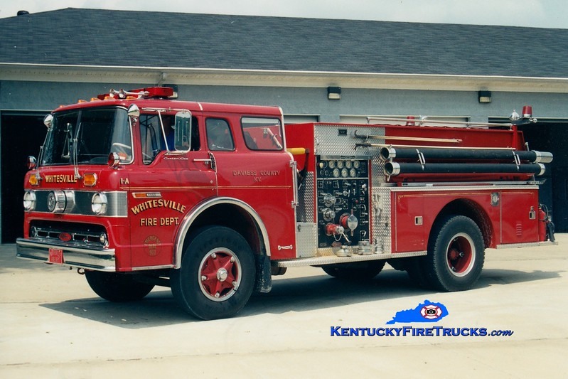 <center> RETIRED <br> Whitesville  Engine 305 <br> 1974 Ford C/Pierce 1000/750 <br> Greg Stapleton photo <br> </center>