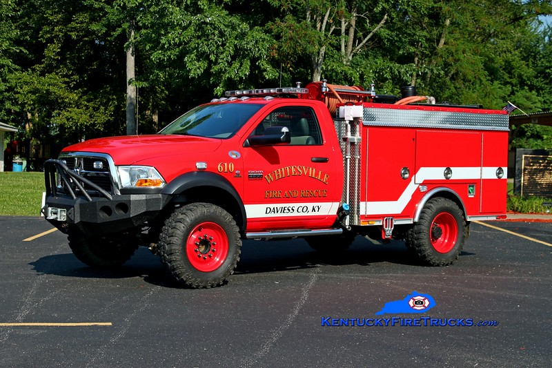 <center> Whitesville  Brush 610 <br> 2011 Dodge D4500 4x4/Nichols Fire & Safety/CET 500/250/10 <br> Kent Parrish photo <br> </center>