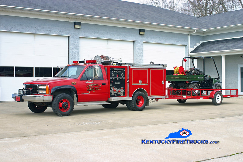 <center> RETIRED <br> Whitesville  Brush 610 <br> 1990 GMC 3500 4x4/Darley 350/250 <br> Kent Parrish photo <br> </center>