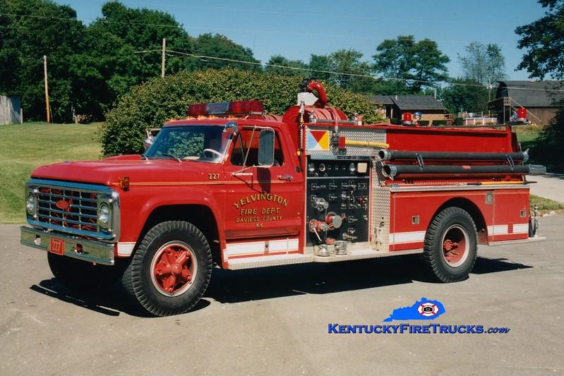 <center> RETIRED <br> Yelvington  Engine 227 <br> 1974 Ford F-800/Pierce 750/750 <br> Greg Stapleton photo <br> </center>