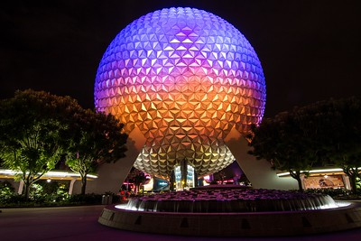 Spaceship Earth at Night 1