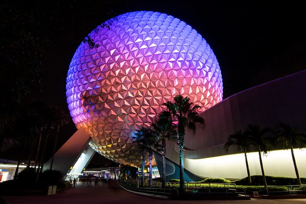Spaceship Earth at Night 2