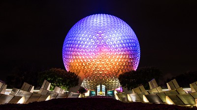 Spaceship Earth at Night 3