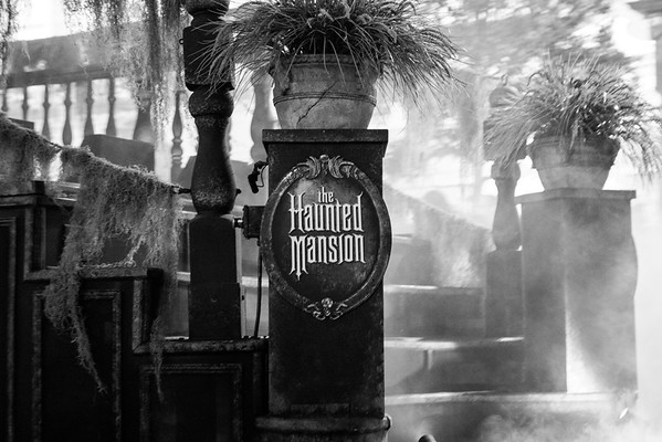 Haunted Mansion Float Black and White