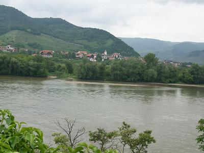 The Danube River in the Wachau Valley (Austria).