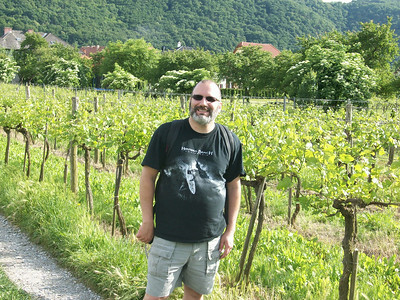 Joe strikes a pose in one of the many vineyards we visited during our day-long 20 mile bike ride along the Danube River through the Wachau Valley wine region of central Austria.