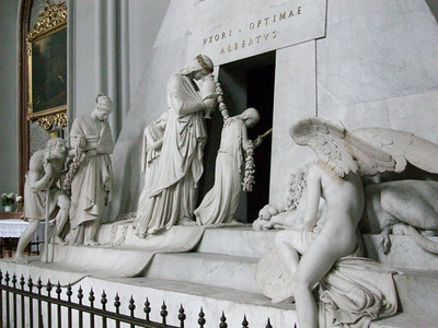 The tomb of Emperor Leopold II, designed by Antonio Canova, inside the 14th century Augustinerkirche in Vienna.