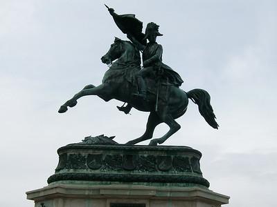 Statue of Emperor Joseph II at the Hofburg Complex in Vienna.