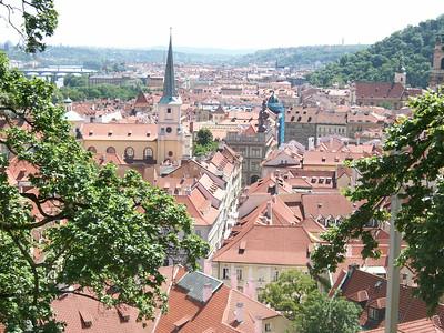 The Little Quarter Riverside district of Prague.