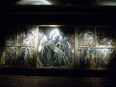 Murals inside Burgersaal in Munich.