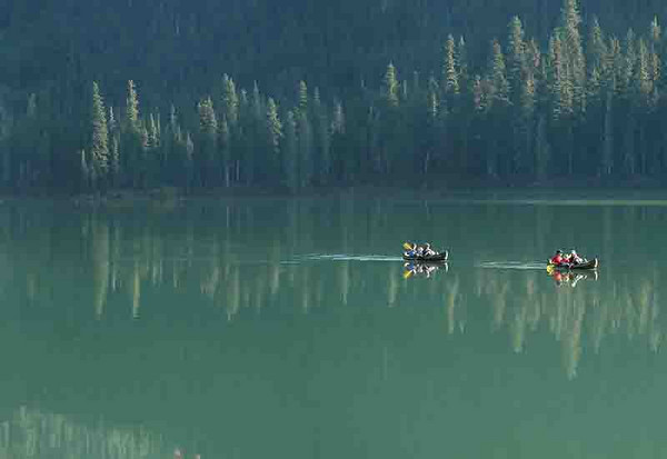 Canoes on Cooper Lake