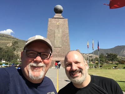Ed and Joe at the Equator