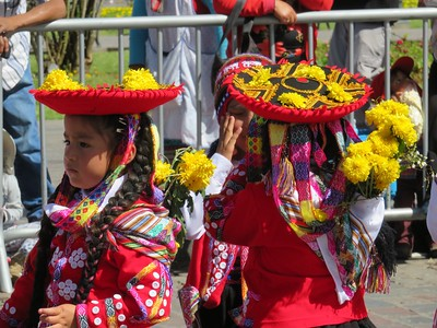 On our last day, celebrations were in full swing. These girls were competing for their school and performing traditional Peruvian dances.
